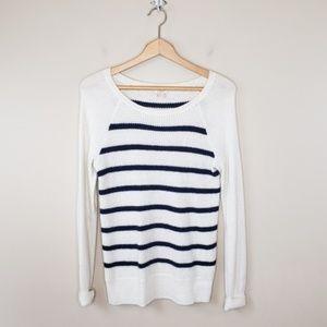 J. Crew Factory | Striped Raglan Sweater